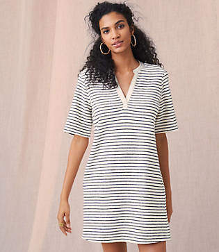 Lou & Grey Brushstripe Pocket Dress