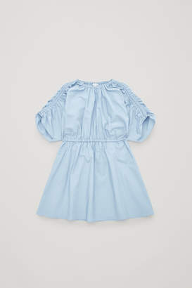 Cos GATHERED POPLIN DRESS