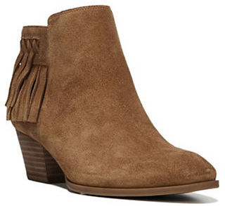 Franco Sarto Gerri Fringed Suede Ankle Boot $129 thestylecure.com