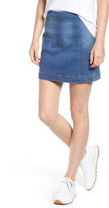Tinsel Denim Miniskirt