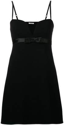 Miu Miu bow fitted mini dress