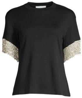 Alexis Women's Olinda Fringe Tee - Black - Size XS