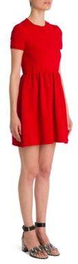 ValentinoValentino Short-Sleeve Bambolina Daisy Embroidered Dress