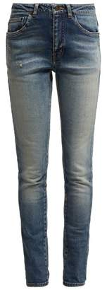 Saint Laurent Mid Rise Skinny Jeans - Womens - Denim
