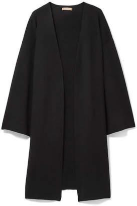 Michael Kors Oversized Ribbed Cashmere-blend Cardigan - Black