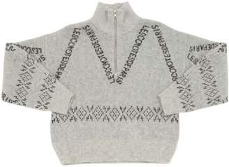 LES COYOTES DE PARIS Olivia All Over Logo Nylon Blend Sweater