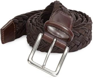 Saks Fifth Avenue Braided Suede & Cotton Belt