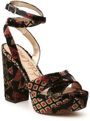 17231c36dd1 Sam Edelman Mara Platform Sandal -Black Maroon Gold Print - Women s