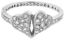 Cathy Waterman Diamond Double Heart Ring - Platinum