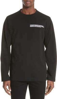 Calvin Klein Established Embroidered Long Sleeve T-Shirt