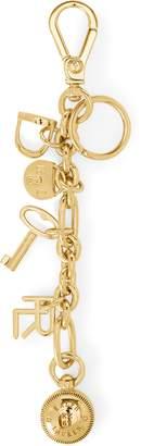 Ralph Lauren Gold-Tone Charm Key Chain