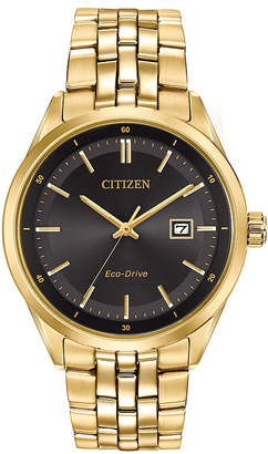 Citizen Eco-Drive Men's Gold Tone Watch With Date Bm7252-51E
