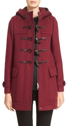 Burberry 'Baysbrooke' Wool Duffle Coat $995 thestylecure.com