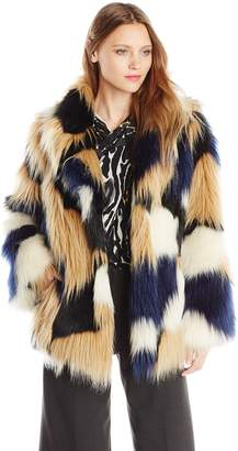 Trina Turk Women's Makayla Faux Fur Coat