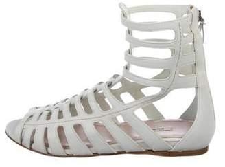 Miu Miu Gladiator Leather Sandals