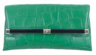 Diane von Furstenberg 440 Envelope Clutch green 440 Envelope Clutch