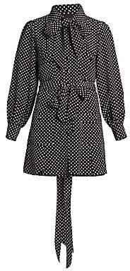 Marc Jacobs Women's The Mini Polka Dot Silk Shirtdress