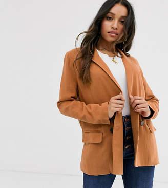Asos DESIGN Petite gutsy linen relaxed blazer