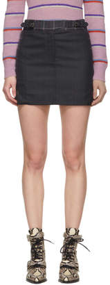 Rag & Bone Navy and Pink James Miniskirt