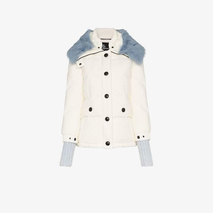 Carezza shearling collar padded jacket