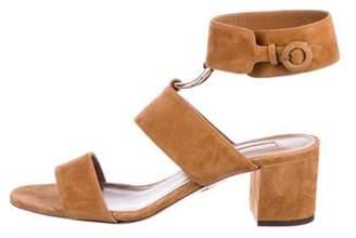 Aquazzura Suede Ankle Strap Sandals gold Suede Ankle Strap Sandals