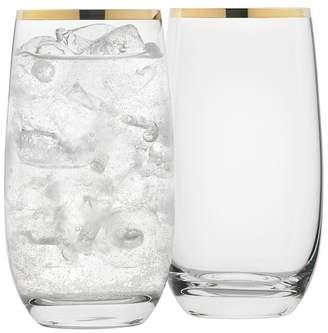 Set of 4 Selene Gold Trim Highball Glasses