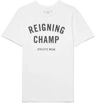 Reigning Champ Logo-Print Cotton-Jersey T-Shirt - Men - White