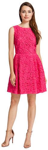 Cynthia Steffe Floral Crochet Dress