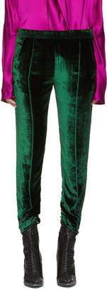 Haider Ackermann Green Velvet Trousers $1,240 thestylecure.com