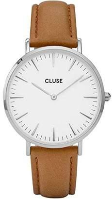 Cluse Women's La Boheme 38mm Leather Band Metal Case Quartz Watch CL18211