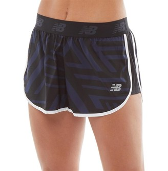 New Balance Womens Accelerate Printed 2.5 Running Shorts Black/Navy