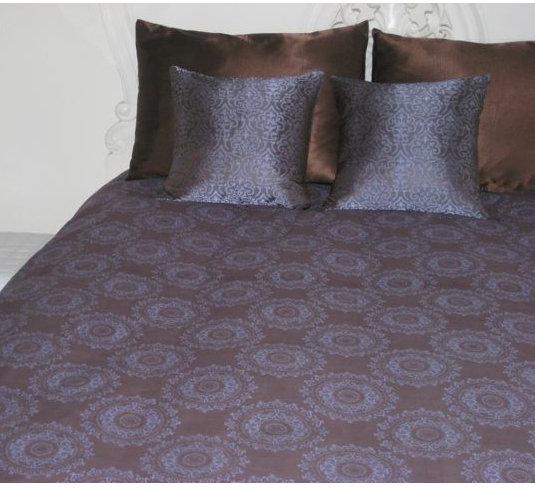 Lace Circle Print Duvet - Cocoa/Lilac