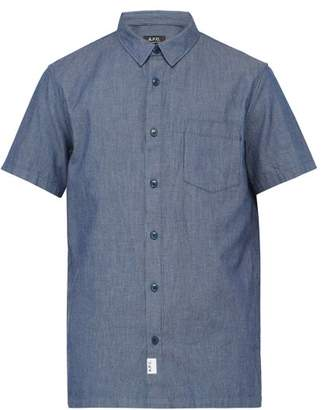 A.P.C. Janis Striped Chambray Shirt - Mens - Blue