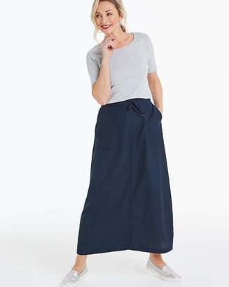 Fashion World Petite Easy Care Linen Mix Maxi Skirt