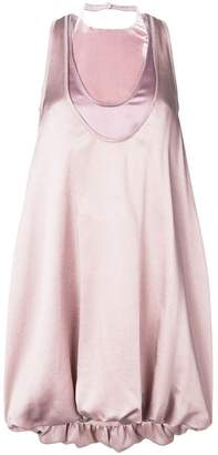Valentino puffball silk dress