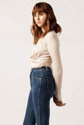 Azalea Rib Twist Front Bodysuit