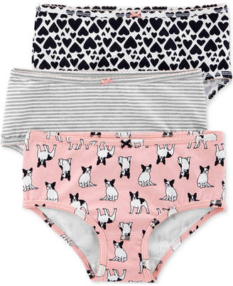 6b8760b69a Carter s Carter Little   Big Girls 3-Pk. French Bulldog Printed Underwear