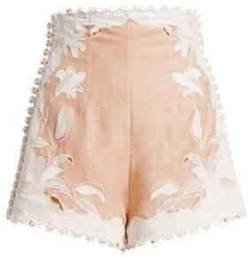 Zimmermann Corsage Lily Embellished Shorts