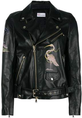 RED Valentino flamingo zipped jacket