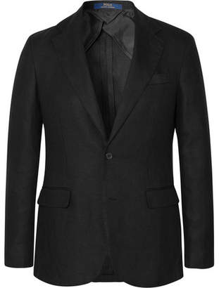 Polo Ralph Lauren Black Morgan Slim-Fit Unstructured Linen Blazer