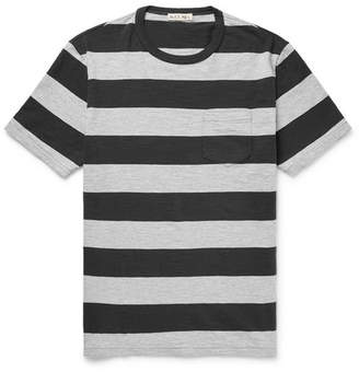 Mélange Striped Cotton-Jersey T-Shirt