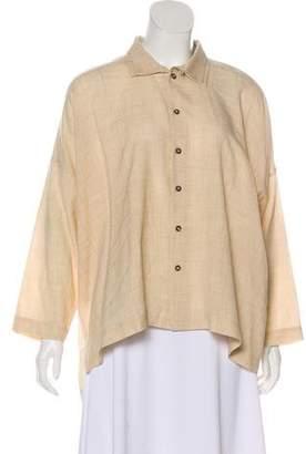 eskandar Wool Button-Up Top