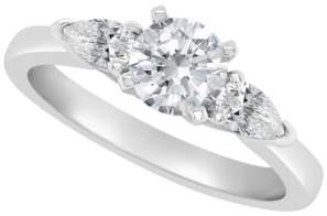 Macy's Certified Round Diamond Engagement Ring (1 1/10 ct. t.w.) in Platinum