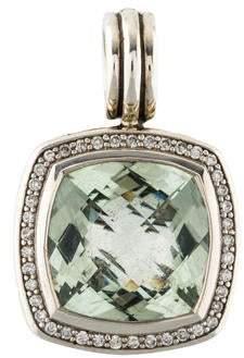 David Yurman Prasiolite & Diamond Albion Pendant