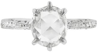 Cathy Waterman Rose Cut Diamond Band Ring - Platinum
