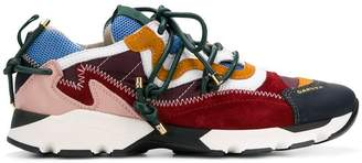 Carven colour block lace-up sneakers