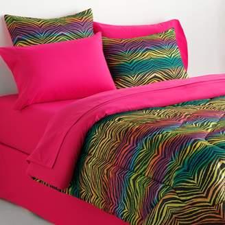 Veratex Rainbow Zebra Reversible Comforter Set