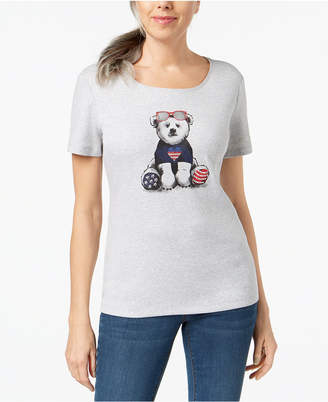 Karen Scott Cotton Graphic-Print T-Shirt, Created for Macy's