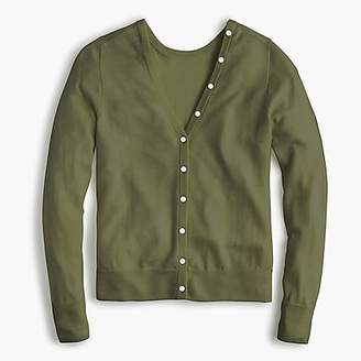 J.Crew Reversible button-back sweater