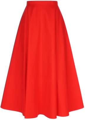 DELPOZO Poplin Midi Skirt